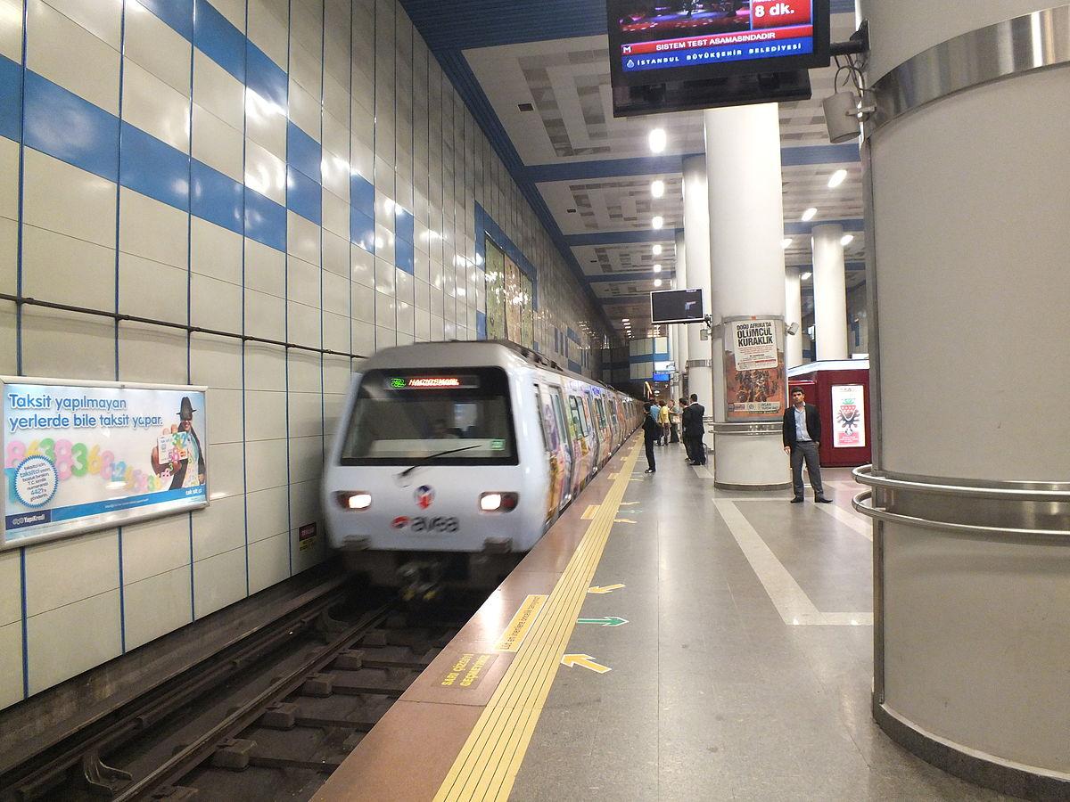 Метро из аэропорта Стамбула в город