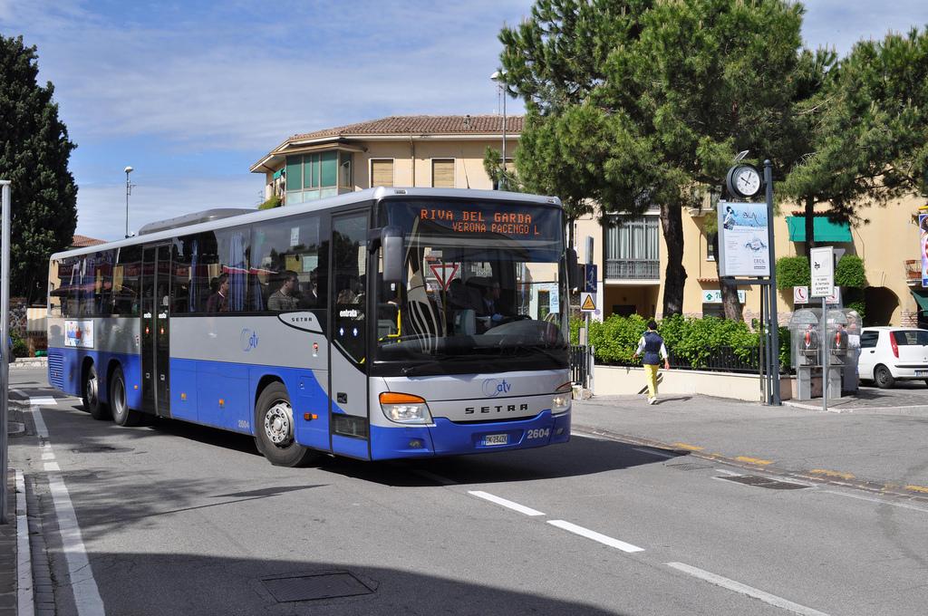 Из аэропорта Вероны в город на автобусе