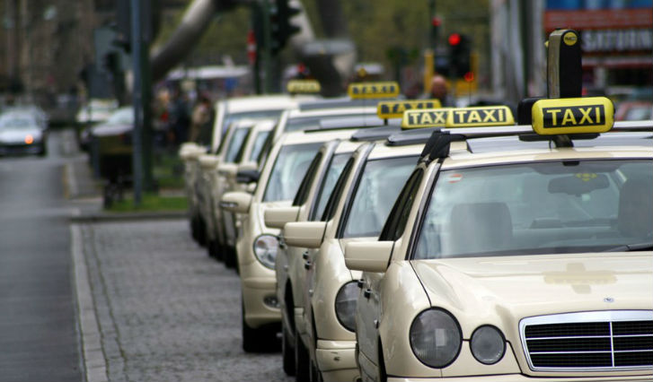 Из аэропорта Франкфурта в город на такси
