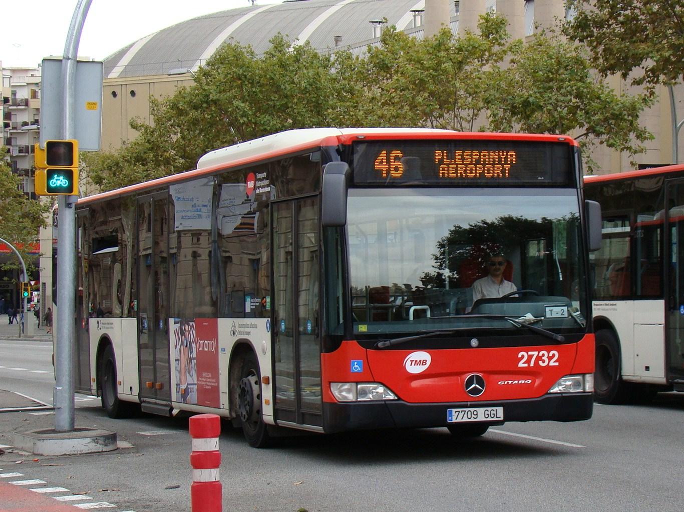 Автобус из аэропорта Барселоны в город