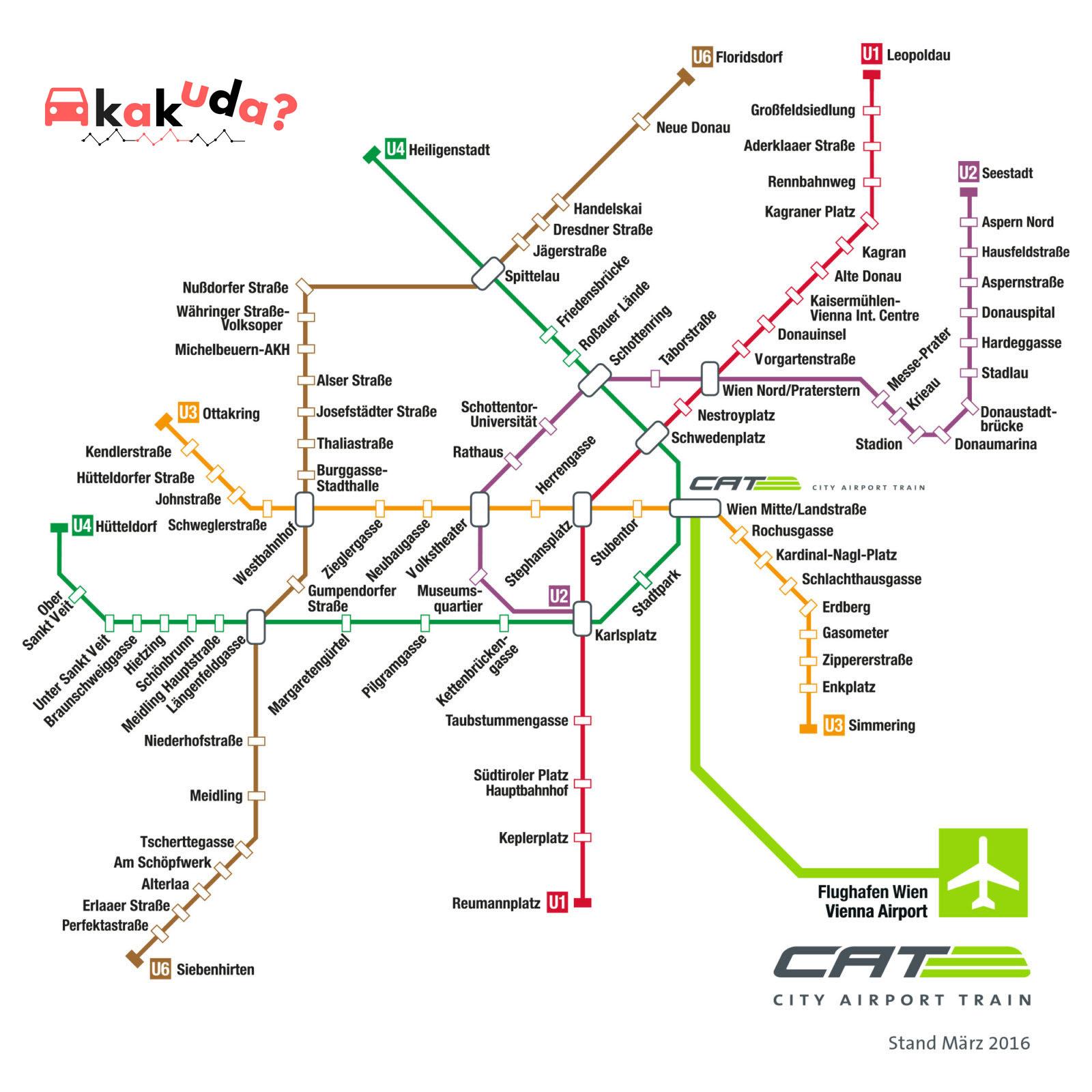 Схема движения поезда CAT