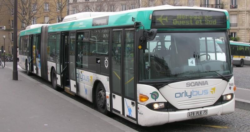 Автобус из Орли в Париж