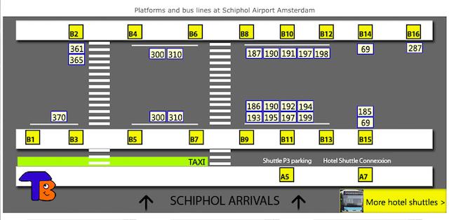 Схема остановок автобусов