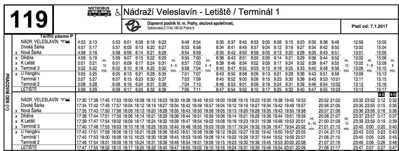 Расписание автобуса №119