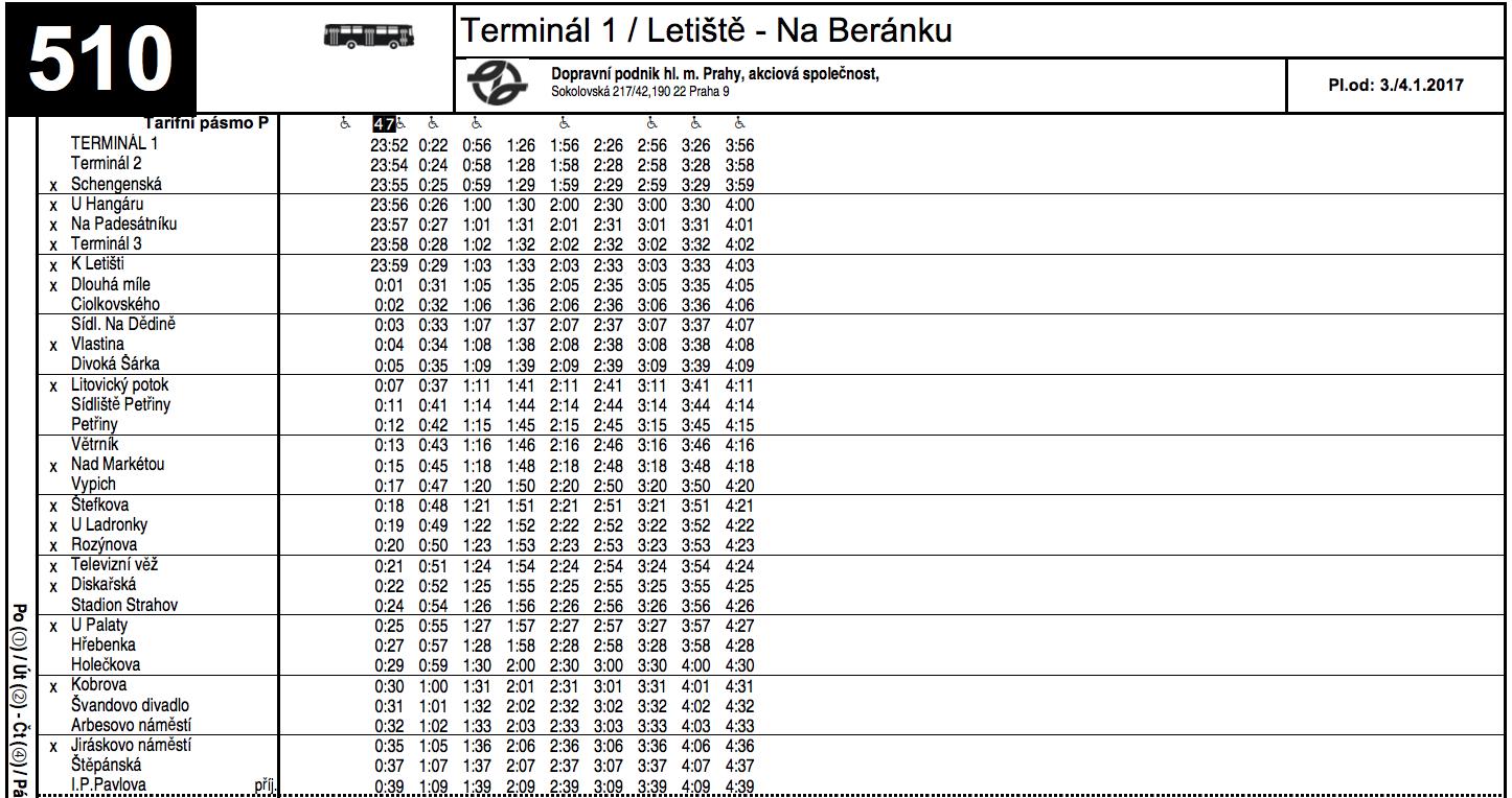 Расписание автобуса №510