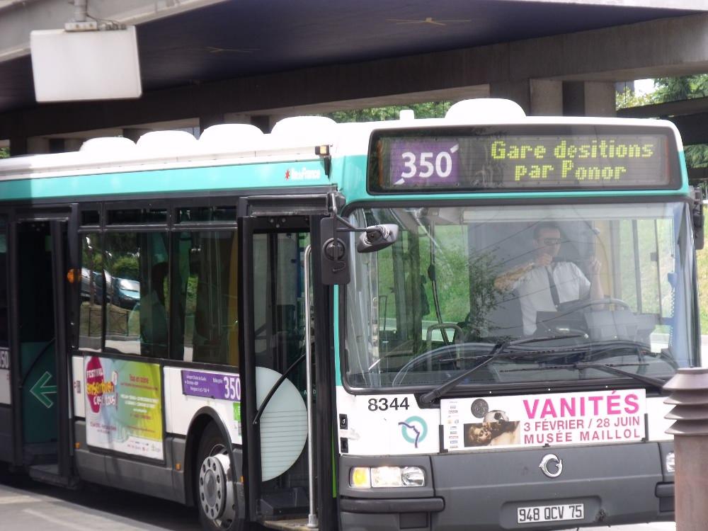 Автобус 350 маршрут от аэропорта Шарль-де-Голль