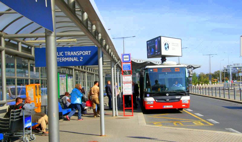 Из аэропорта Праги на автобусе