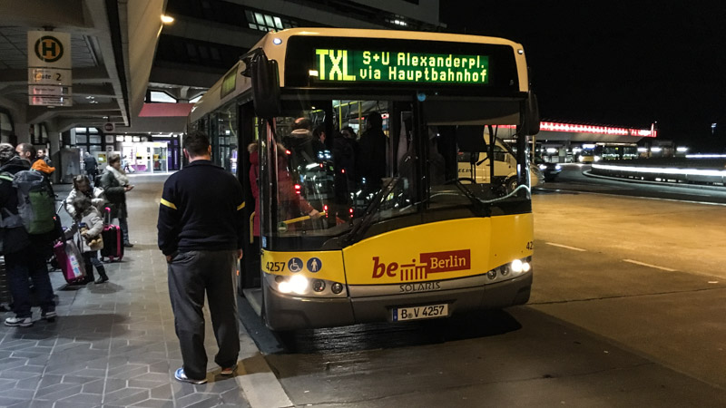 АвтобусTXL в Берлине