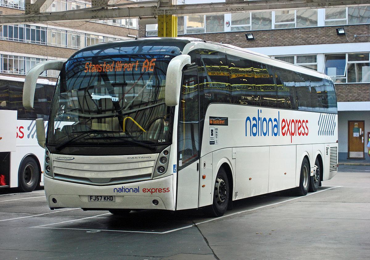Автобус из аэропорта Станстед в Лондон