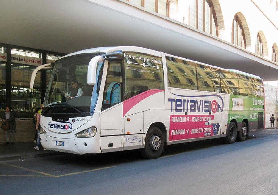 Автобус из аэропорта Рима в город