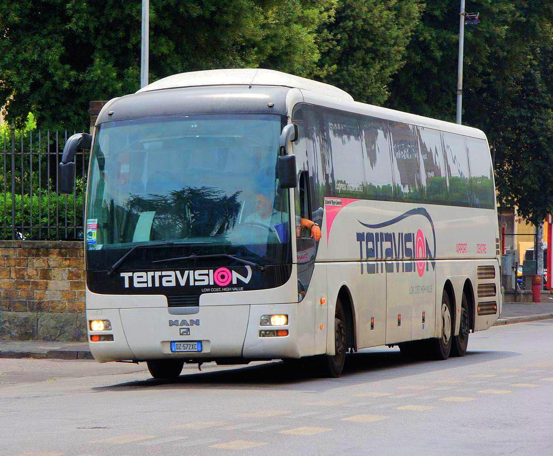 Автобус Terravision из Бергамо