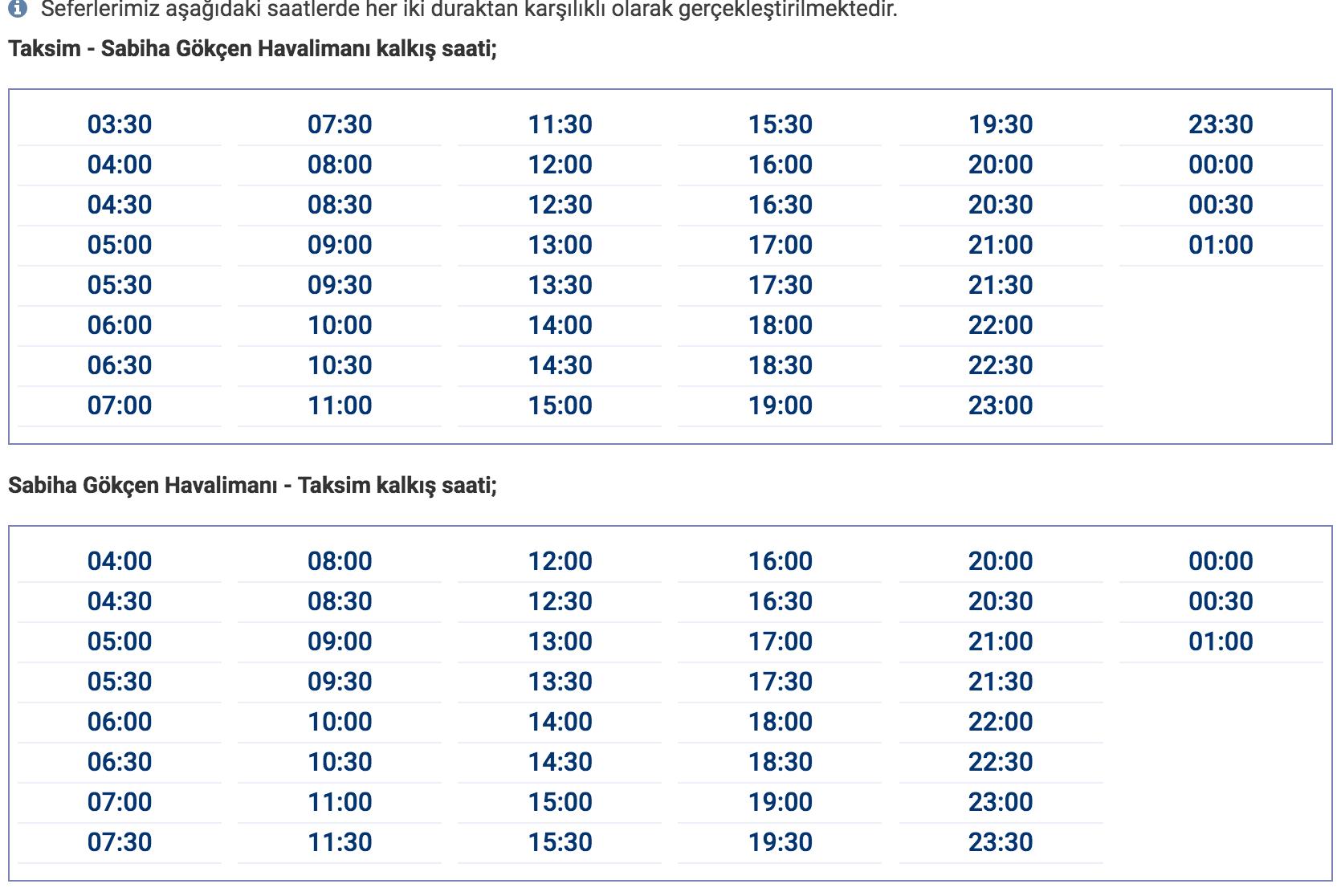 Расписание шаттла Havatas
