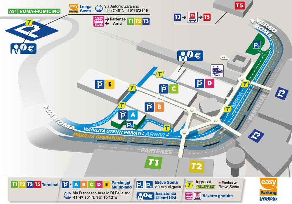 Схема аэропортаФьюмичино