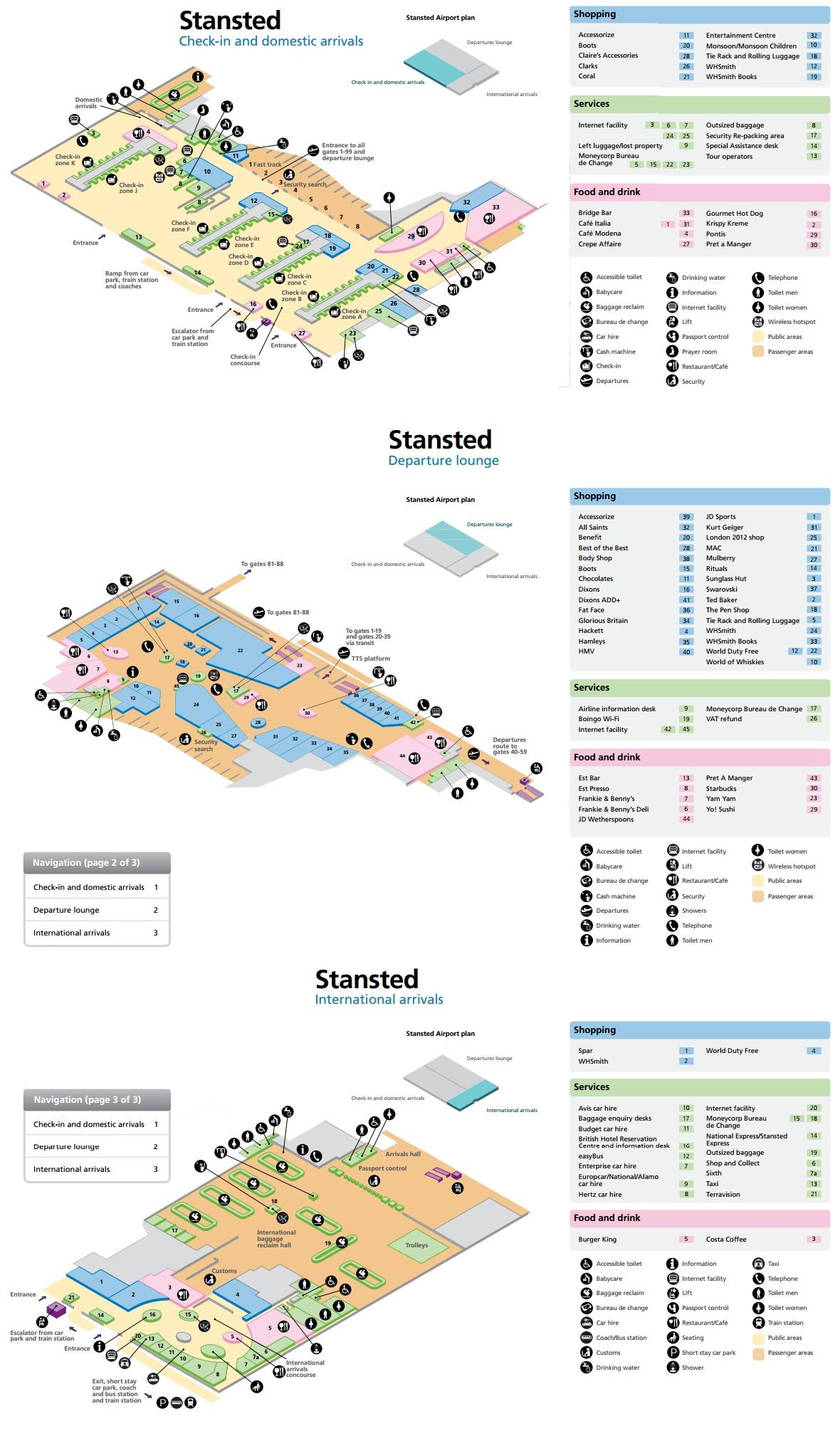 Схема аэропорта Лондона Стансхед