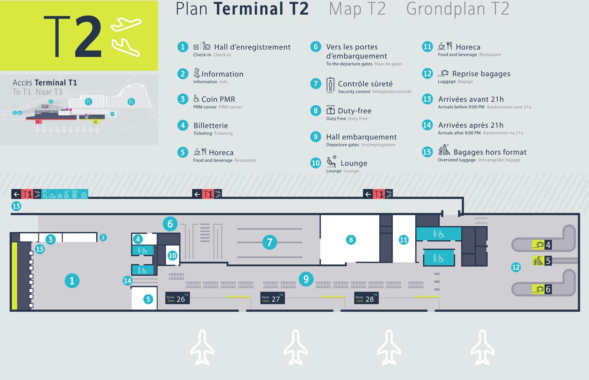 Схема аэропорта Шарлеруа