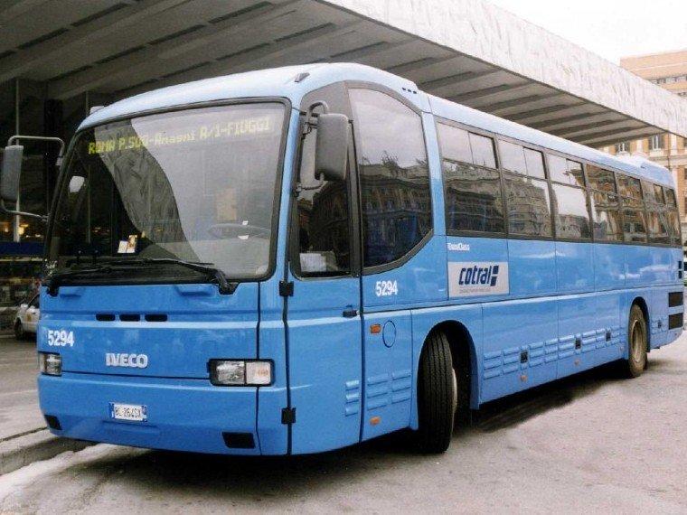 Автобусы Cotral из аэропорта