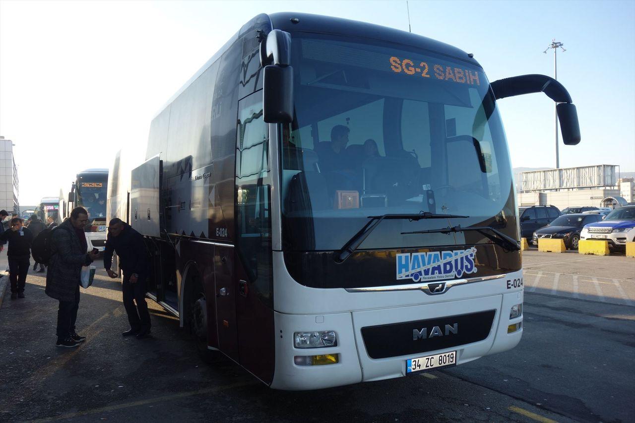 Из аэропорта Сабиха в Стамбул на автобусе