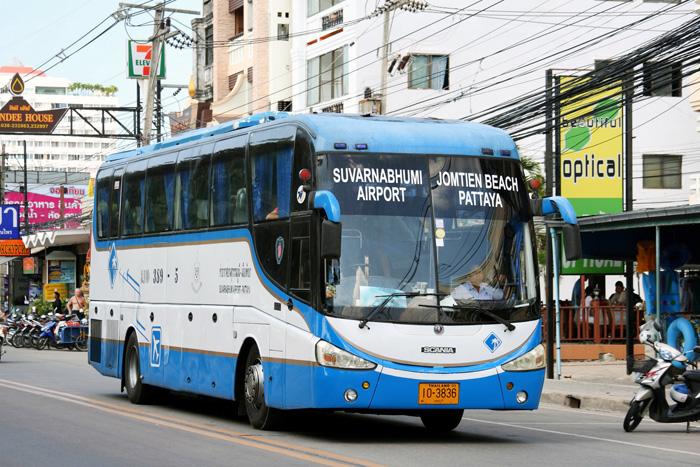 Автобус 389 из аэропорта Бангкока в Паттайю