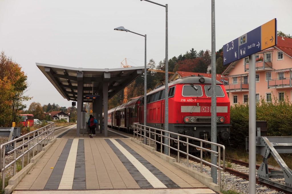 Поезд из Мюнхена вНойшванштайн