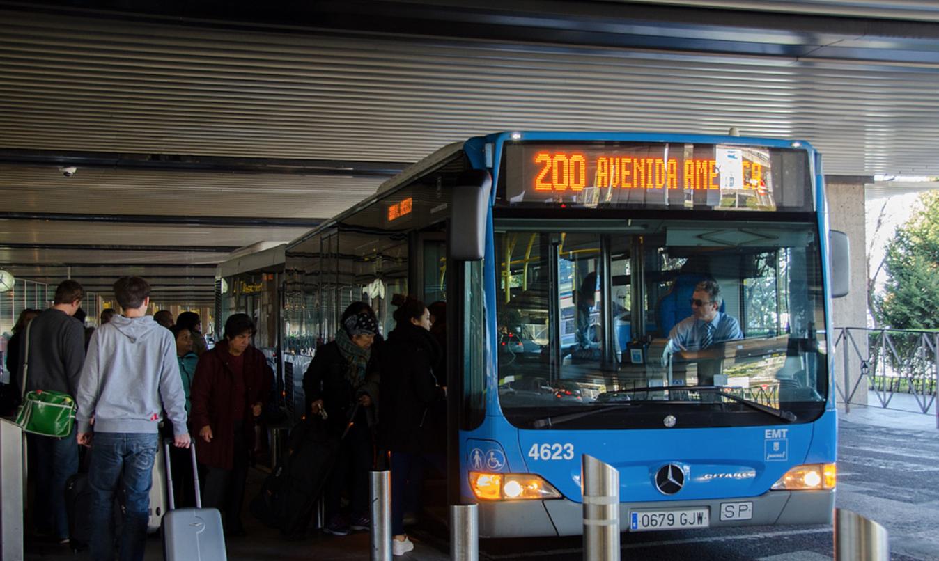 Автобус 200 из аэропорта Мадрида