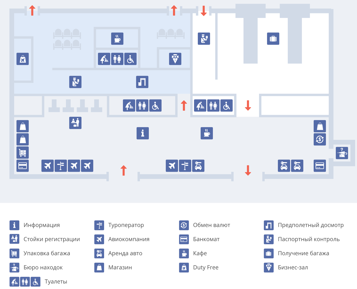 Схема аэропорта Тиват