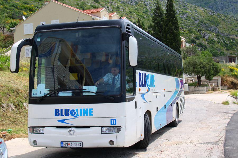 Автобус Blueline в Будву