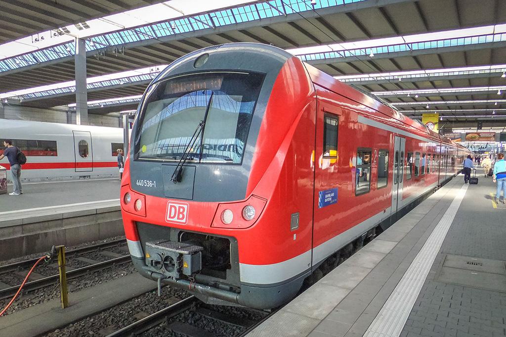 Поезд из аэропортаМеммингена в Мюнхен