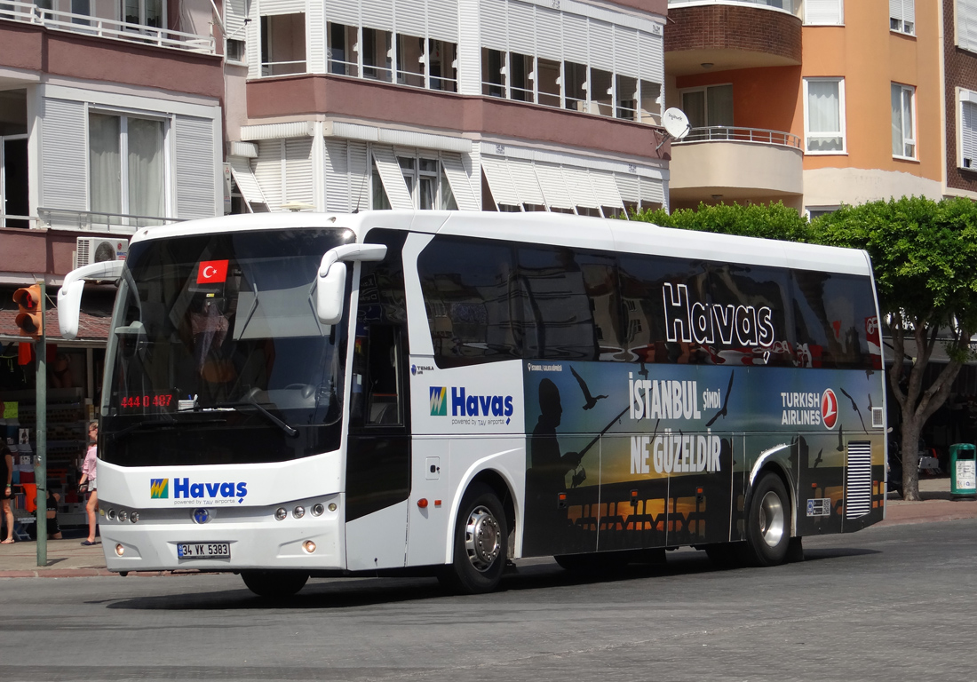 Автобус из аэропорта Анталии в Бельдиби