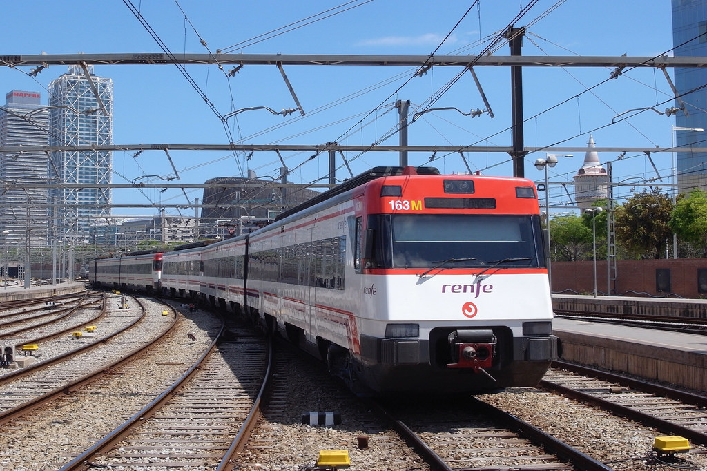 Поезд Renfe в Салоу из Барселоны
