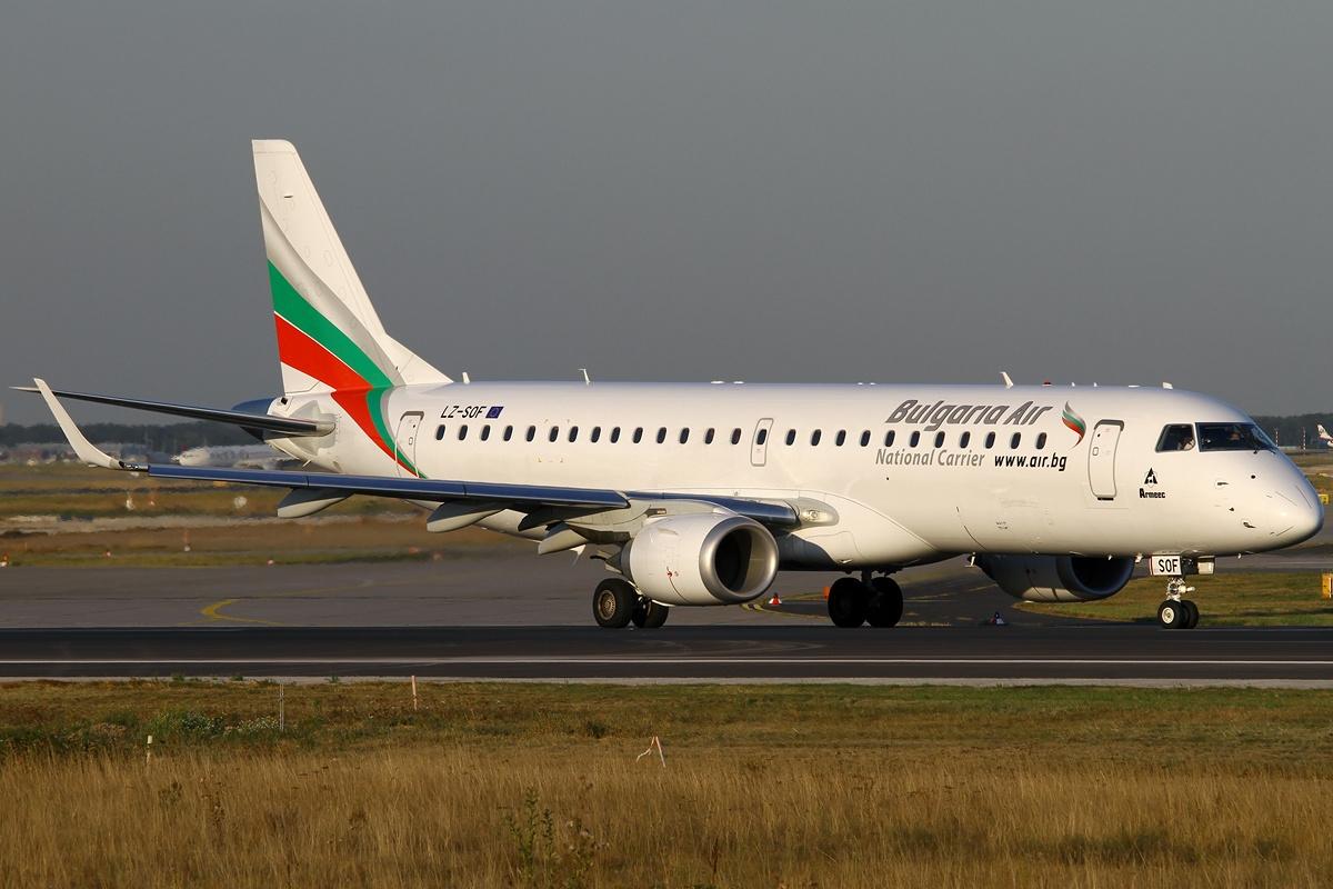 Самолет из Бургаса в Софию