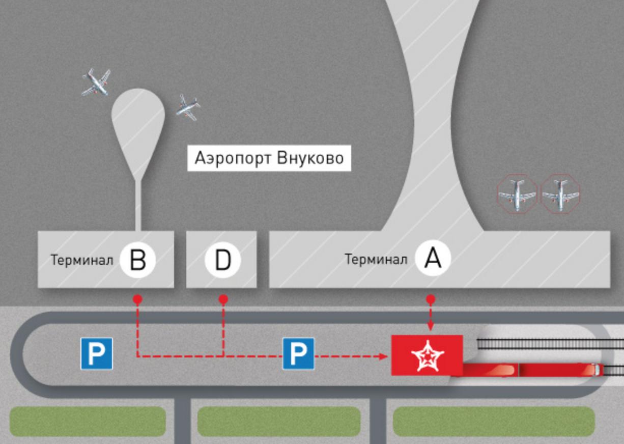 Остановка в аэропорту Внуково