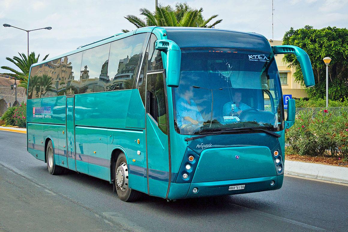 Автобус из аэропорта Ираклиона вХерсониссос