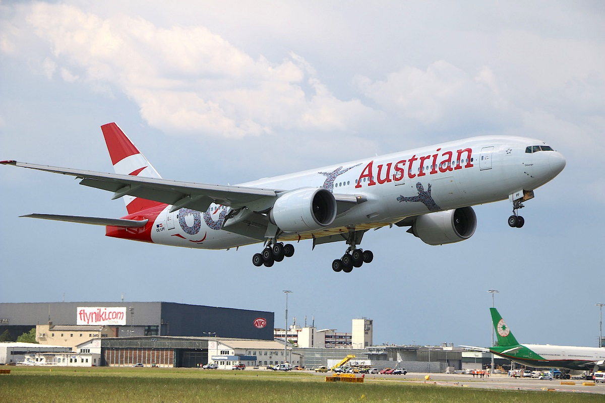 Самолет из Праги в Вену