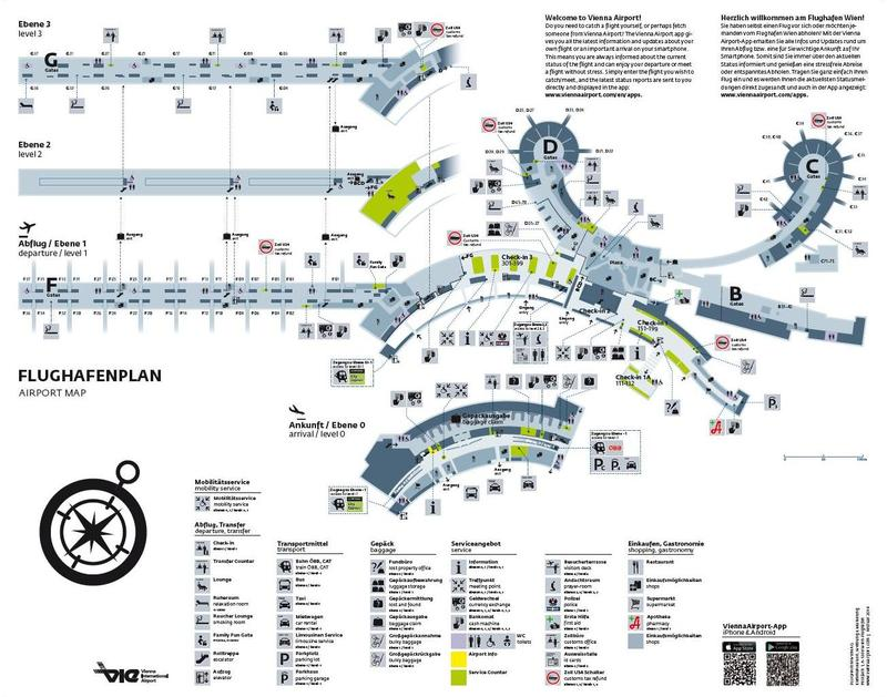 Схема аэропорта Вены (Швехат)