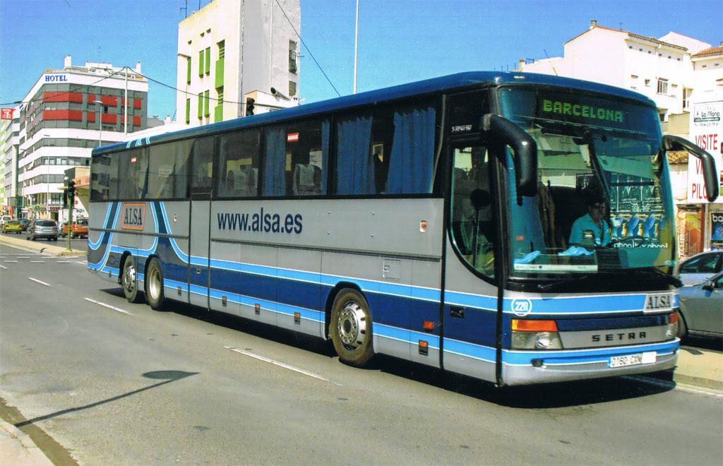 Автобус из Барселоны в Мадрид