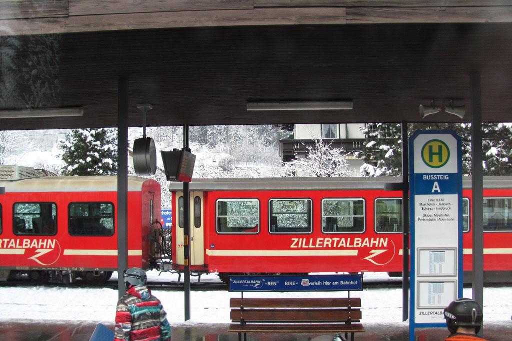 Поезд из Мюнхена до Майрхофен
